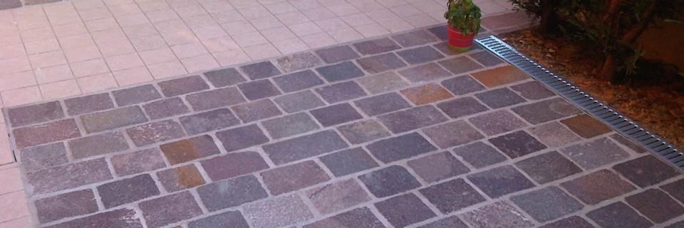 Come pulire il porfido la pulizia del pavimento in - Pulizia piastrelle dopo posa aceto ...