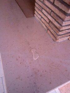 effetto goccia su marmo con Fila mp90