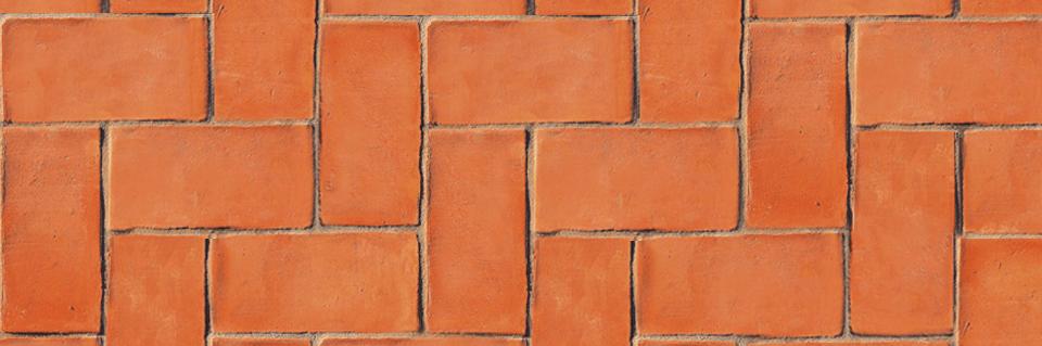 terracotta surface