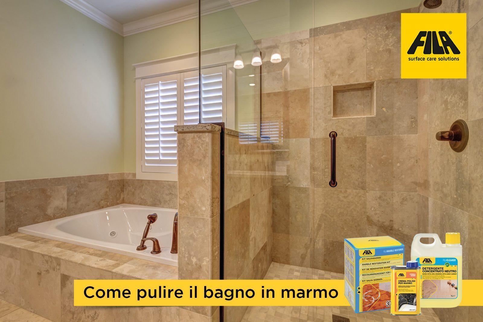 Bagno in marmo: come pulirlo e proteggerlo dalle macchie