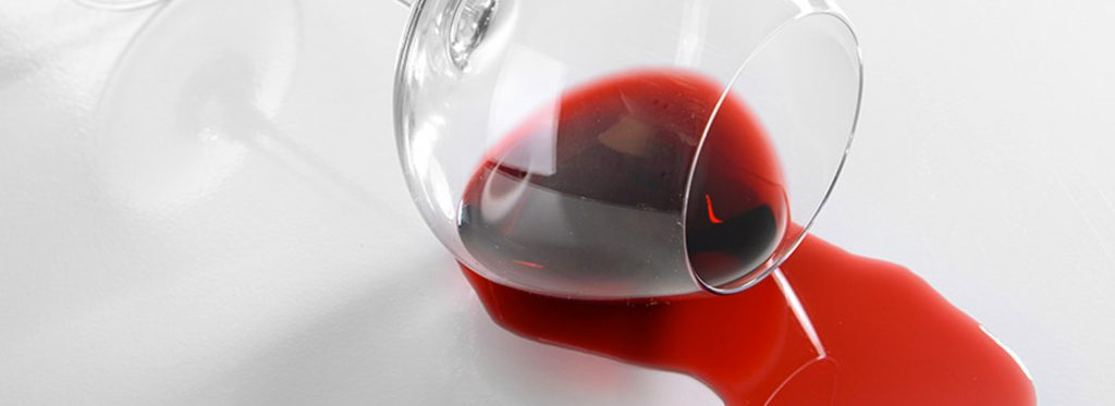 How to clean wine stains off marble