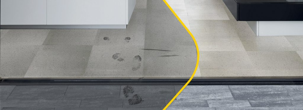 Protect your stoneware floor against dirt and keep it clean with FILASTOP DIRT