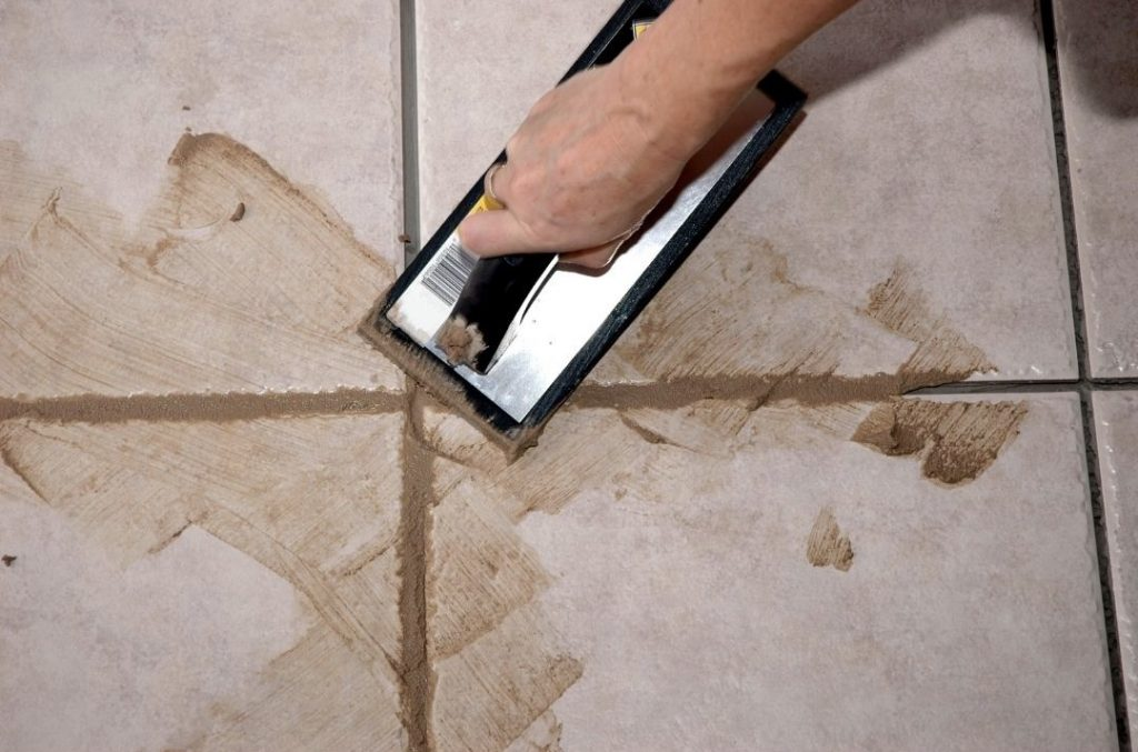 tile grout installation and cleaning