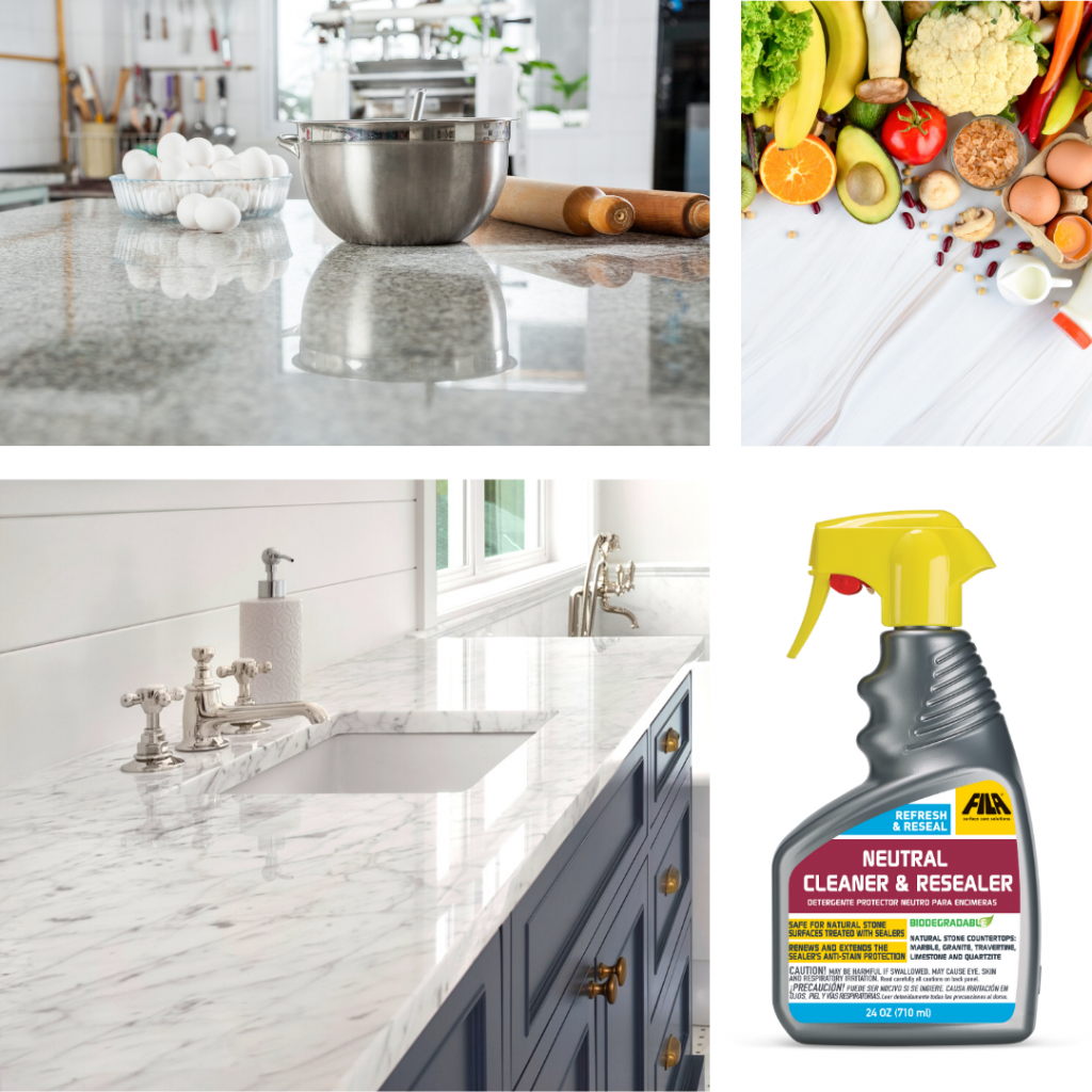 spring cleaning kitchen countertops