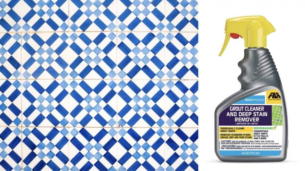 spring cleaning tile grout