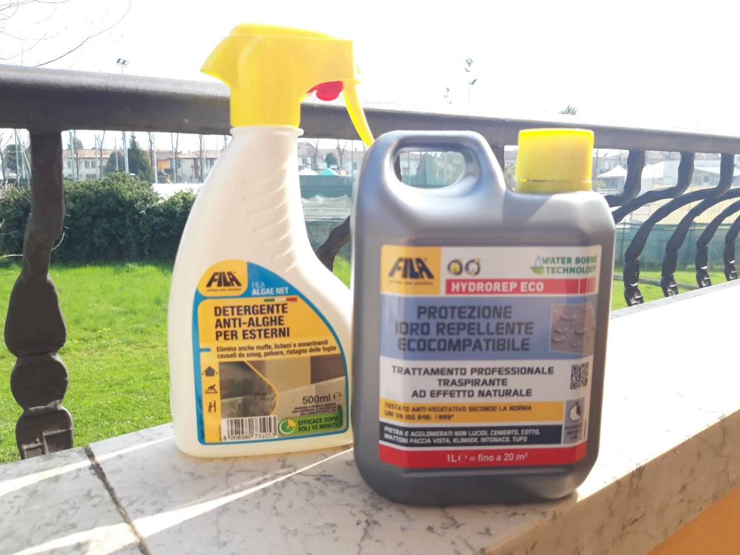 Detergente anti-alghe e idrorepellente