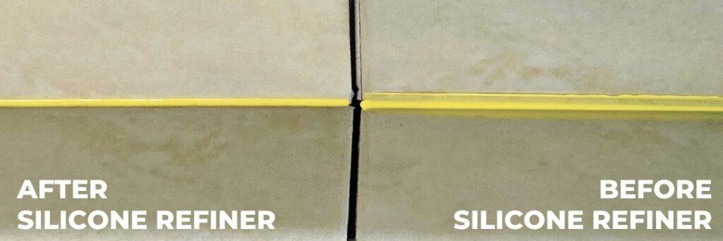 silicone perfecta en el baño limpio